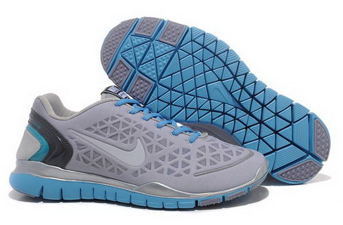 2012 Nike Free Run Tr Fit Men Shoes Grey Blue Discount Code