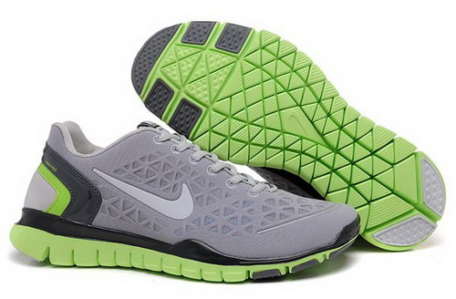 2012 Nike Free Run Tr Fit Men Shoes Grey Green Outlet