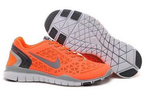2012 Nike Free Run Tr Fit Men Shoes Orange Discount