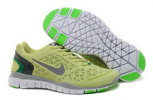 2012 Nike Free Tr Fit Womens Shoes Lemon Green Silver Hot Sell Germany