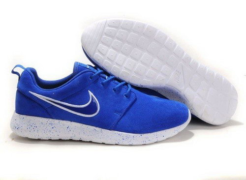 2013 Design Nike Mens Roshe Running Shoes Wool Skin Blue Sale Online Store