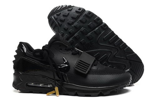 2014 Nike Air Yeezy Ii 2 Sp Max 90 The Devil Series West Mens Shoes All Black Discount Code