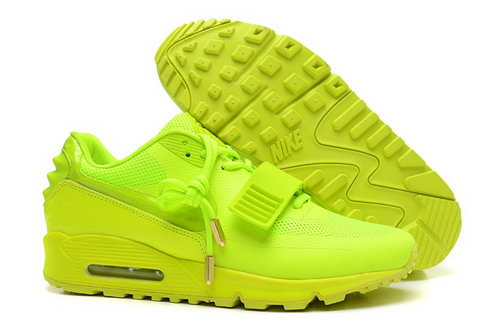 2014 Nike Air Yeezy Ii 2 Sp Max 90 The Devil Series West Mens Shoes All Bling Yellow Outlet