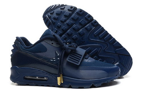 2014 Nike Air Yeezy Ii 2 Sp Max 90 The Devil Series West Mens Shoes All Dark Blue Discount