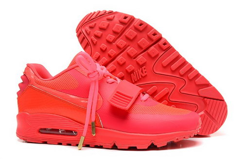 2014 Nike Air Yeezy Ii 2 Sp Max 90 The Devil Series West Mens Shoes All Peach Red