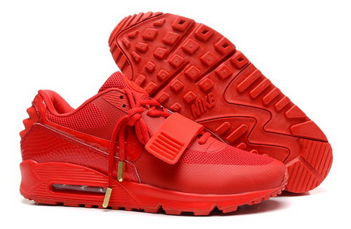 2014 Nike Air Yeezy Ii 2 Sp Max 90 The Devil Series West Mens Shoes All Red Factory Store