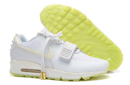 2014 Nike Air Yeezy Ii 2 Sp Max 90 The Devil Series West Mens Shoes All White Yellow Outlet Online