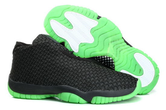 Air Jordan Future Glow Black Green Weaving China