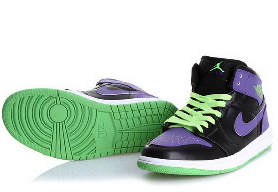 Air Jordan Retro 1 Black Green Purple Korea
