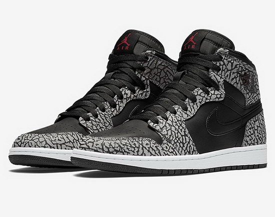 Air Jordan Retro 1 Black Grey Burst Crack Closeout