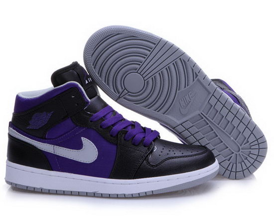 Air Jordan Retro 1 Black Purple White Cheap