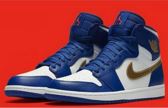 Air Jordan Retro 1 Blue White Gold Ireland
