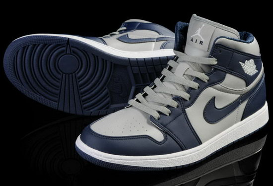 Air Jordan Retro 1 Grey Dark Blue France