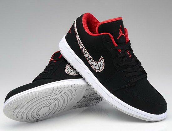 Air Jordan Retro 1 Low Black White Red Germany