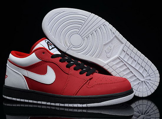 Air Jordan Retro 1 Low Red White Sweden