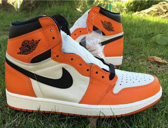 Air Jordan Retro 1 Orange White Black Sale