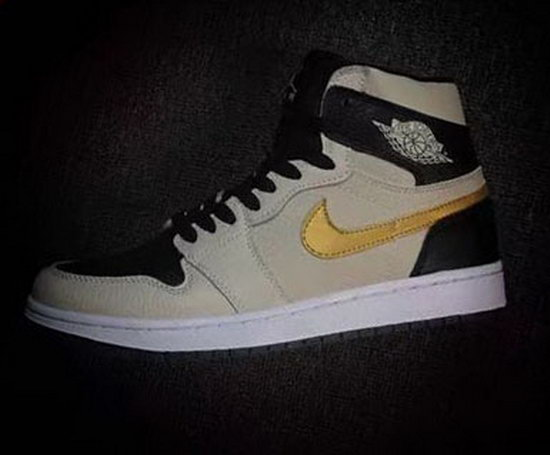 Air Jordan Retro 1 Pearl Ash Black Gold For Sale