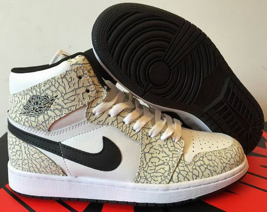 Air Jordan Retro 1 White Black Grey Burst Crack Cheap