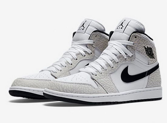 Air Jordan Retro 1 Whiter Black Grey Burst Crack Outlet Online