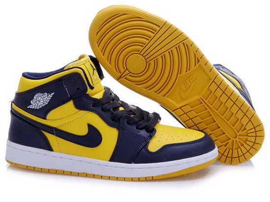 Air Jordan Retro 1 Yellow Dark Blue Ireland