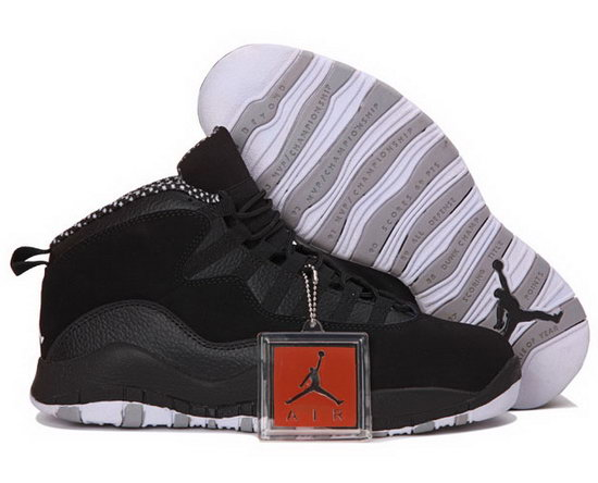 Air Jordan Retro 10 Black White Korea
