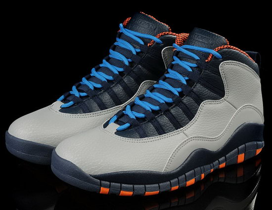 Air Jordan Retro 10 White Black Blue Orange Cheap