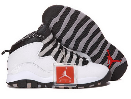 Air Jordan Retro 10 White Black Outlet