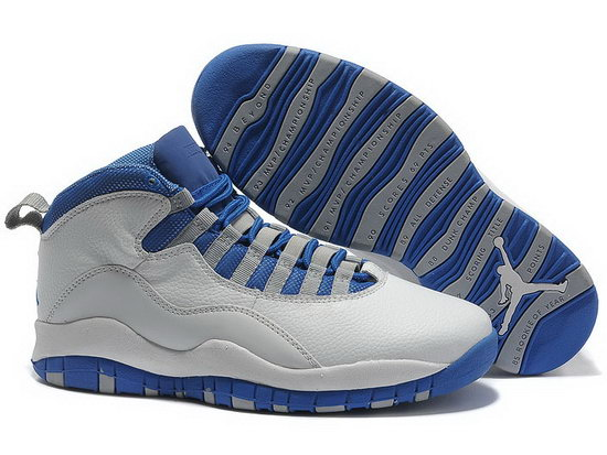 Air Jordan Retro 10 White Blue Discount