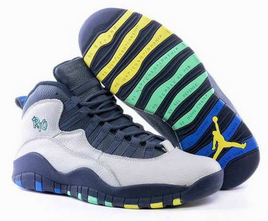Air Jordan Retro 10 White Dark Blue Denmark