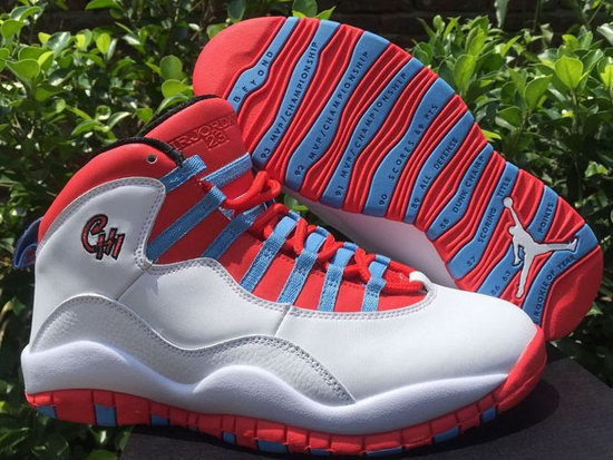 Air Jordan Retro 10 White Red Blue Factory Store