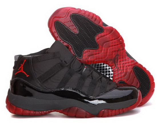 Air Jordan Retro 11 Black Dark Red Sweden