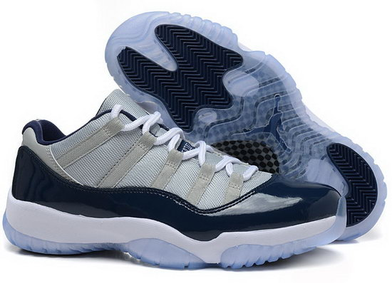 Air Jordan Retro 11 Low Grey White Dark Blue Coupon