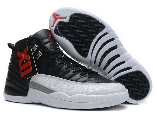 Air Jordan Retro 12 Black White Grey Factory Outlet