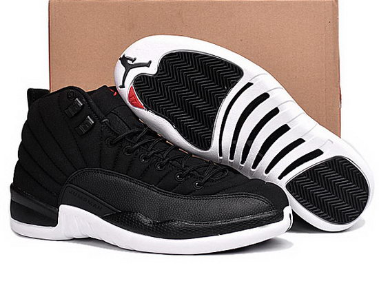 Air Jordan Retro 12 Black White Soles Inexpensive