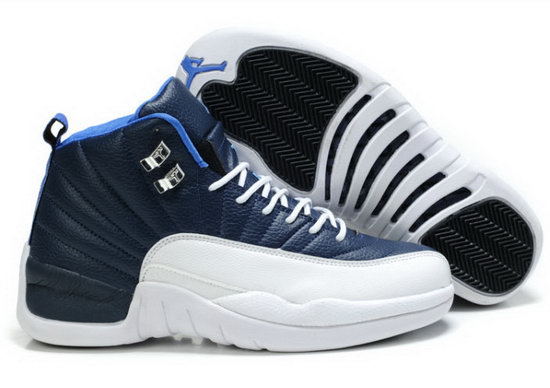 Air Jordan Retro 12 Dark Blue White Italy