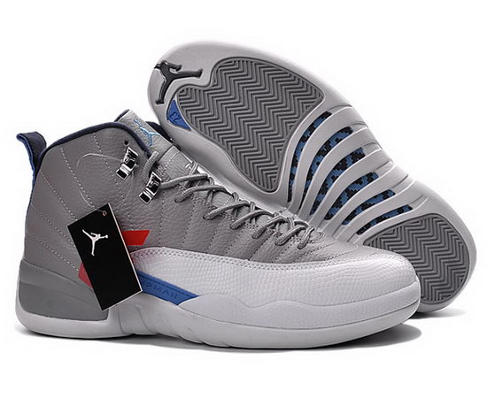 Air Jordan Retro 12 Grey White Blue Coupon