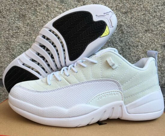 Air Jordan Retro 12 Low All White Coupon Code
