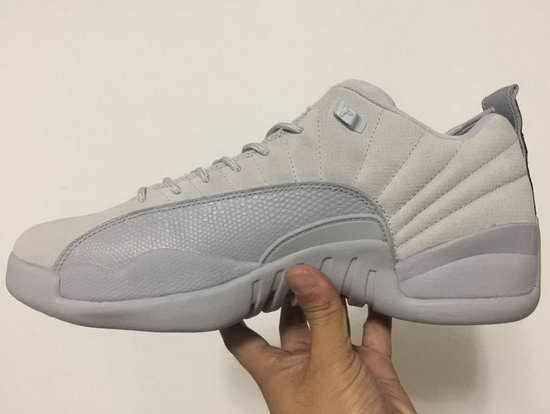 Air Jordan Retro 12 Low White Grey Wholesale