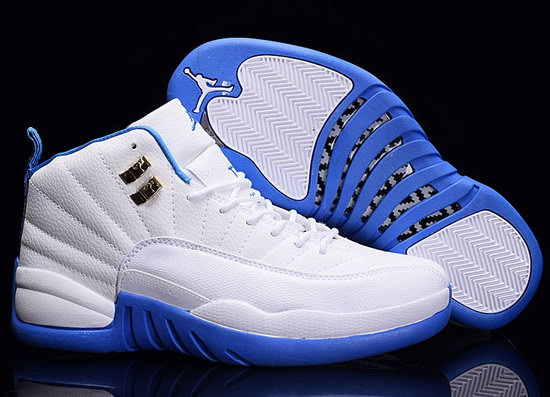 Air Jordan Retro 12 White Blue Soles For Sale