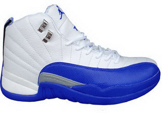 Air Jordan Retro 12 White Blue Online Store