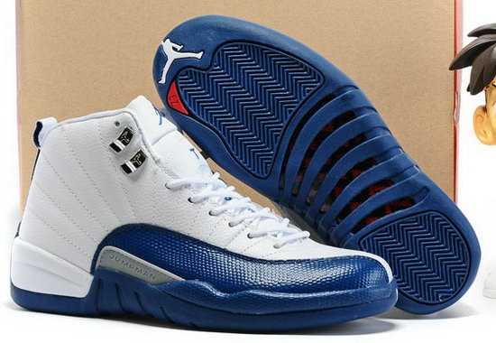 Air Jordan Retro 12 White Deep Royal Blue Portugal