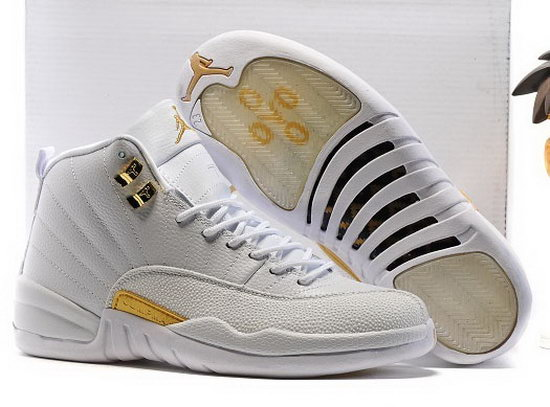 Air Jordan Retro 12 White Gold Outlet Store