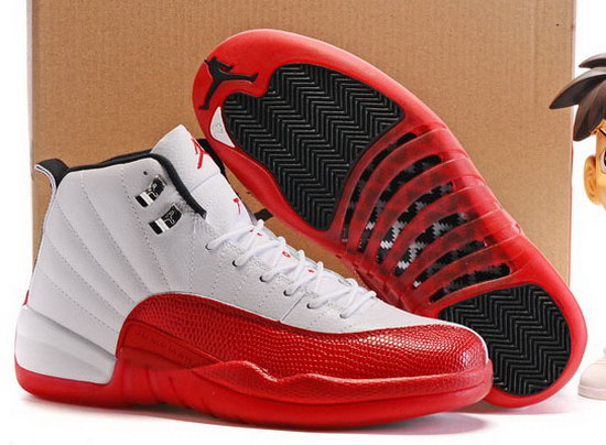 Air Jordan Retro 12 White Red Usa