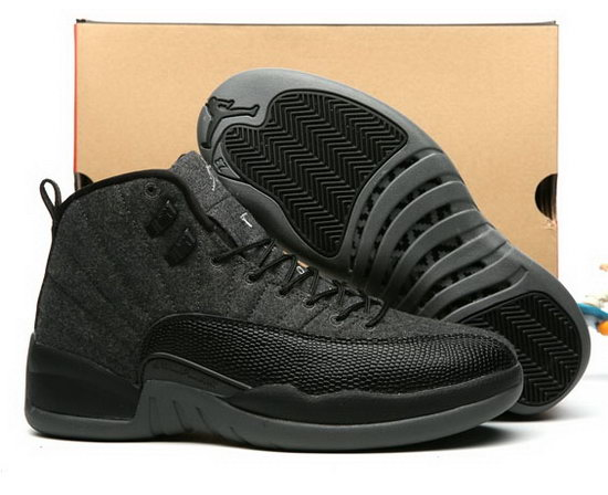 Air Jordan Retro 12 Wool Black Promo Code