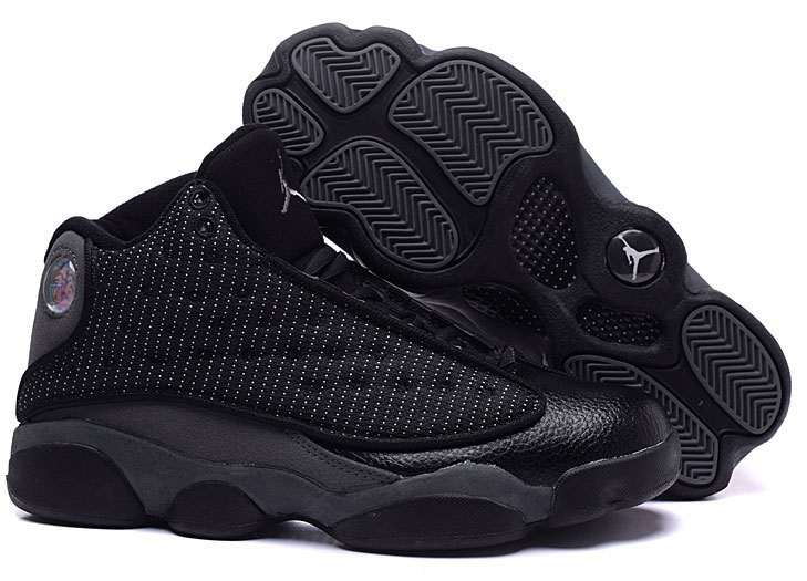 Air Jordan Retro 13 All Black Grey New Zealand