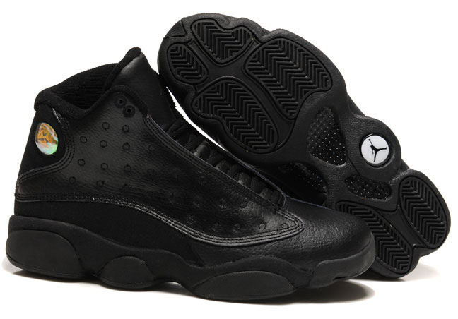 Air Jordan Retro 13 All Black Factory