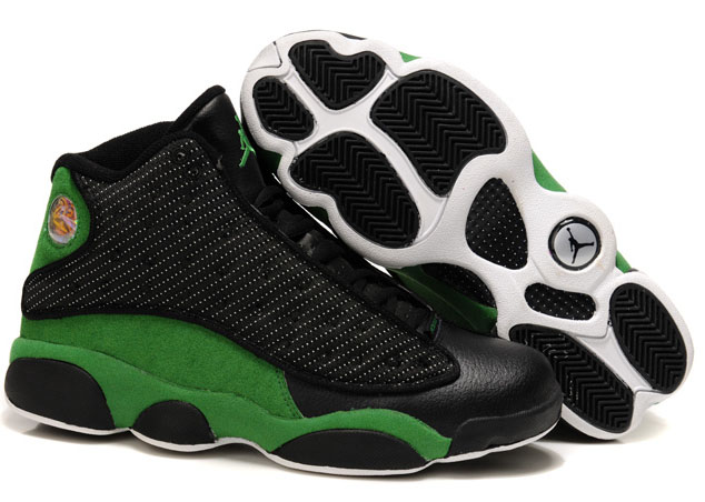 Air Jordan Retro 13 Black Green White Poland