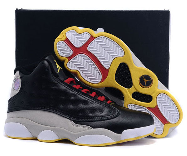 Air Jordan Retro 13 Black Grey Yellow Wholesale
