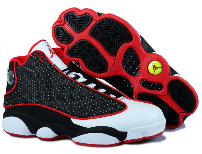 Air Jordan Retro 13 Black White Red Outlet Store