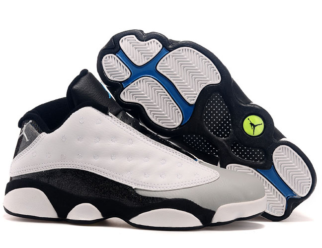 Air Jordan Retro 13 Low White Black Grey Hong Kong
